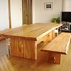 横浜のオーダー家具ユウキがつくるケヤキのダイニングテーブル