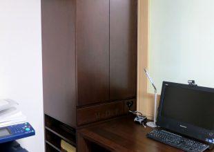 オーダー家具 ブラックウォールナットのデスク横収納(S-050)