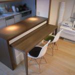 横浜のオーダー家具ユウキが作ったテーブル格納式・カウンター収納