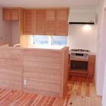 東京のオーダー家具ユウキが作ったタモ無垢材のオーダーキッチン