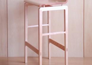 椅子・ソファ メープルの無垢材を使ったカウンタースツール