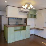 横浜のオーダー家具ユウキが作った『グレイッシュグリーンの家具』