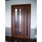 東京のオーダー家具ユウキが作った真鍮を象眼したリビングドア
