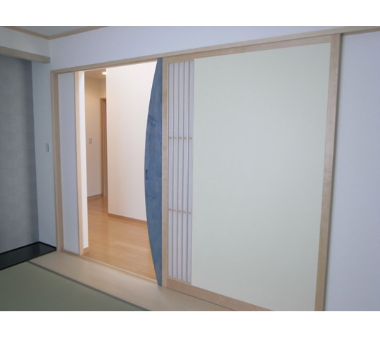 ワーロンを使用した和室引戸3