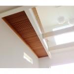 東京のオーダー家具ユウキが作った無垢材スノコの渡り廊下