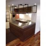 東京のオーダー家具ユウキが作った2mm厚ステンレス天板のキッチンリフォーム