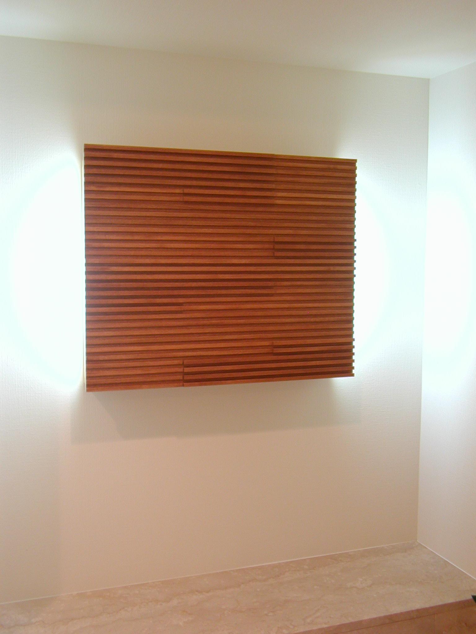 波をイメージした玄関照明[2]