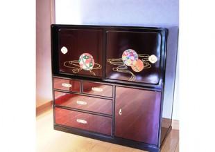 ユニーク商品 刺繍入り蒔絵漆箱のリペア