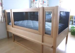 神奈川のオーダー家具ユウキが作った障害をもたれたお子さまの大人になっても使えるサークルベッド