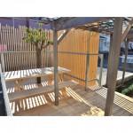 東京のオーダー家具ユウキが作った神奈川県産材の天然乾燥材・ウッドデッキ