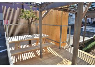 ウッドデッキ・ガーデンセット 神奈川県産材の天然乾燥材・ウッドデッキ