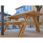 東京のオーダー家具ユウキが作った神奈川県産材のガーデンセット