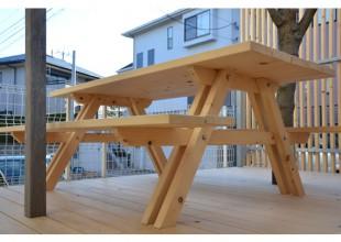神奈川県産材家具 神奈川県産材のガーデンセット