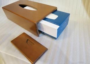 木製のティッシュケース