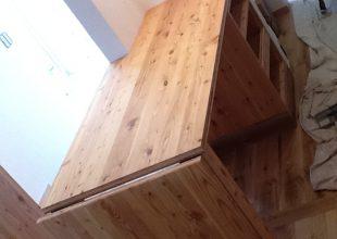 オーダー家具 『耐荷重150kgある跳ね上げ天板』(T-020)