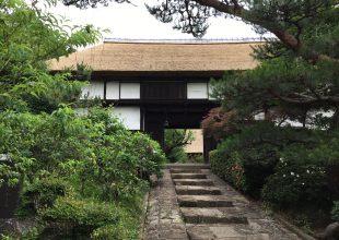 関家住宅・茅葺屋根の葺き替えが終わりました。