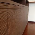 東京のオーダー家具ユウキが作った波をイメージしたダイニングカウンター