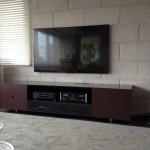 東京のオーダー家具ユウキが作ったデザインにこだわったテレビ台です