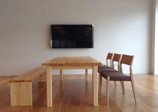 神奈川県産材使用の家具が、お客様のショールーム展示用として完成しました。