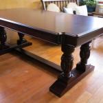 東京のオーダー家具ユウキが作ったテーブルリフォーム・豪華テーブルがよみがえりました