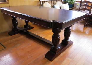 テーブルリフォーム・豪華テーブルがよみがえりました