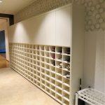 東京のオーダー家具ユウキが作った大きな白い下駄箱(W4230㎜)