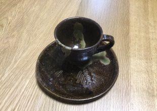北川八郎様の器でコーヒーをいただきました。