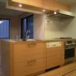 東京のオーダー家具ユウキが作ったステンレス天板とホワイトオーク材のオーダーキッチン