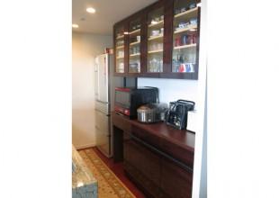 キッチン収納 既存のキッチンに合せた食器棚