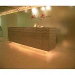 東京のオーダー家具ユウキが作った波模様ステンレスの家具