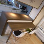 東京のオーダー家具ユウキが作った室内を有効活用できる 『カウンター収納』 (K-036)