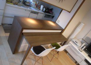 オーダー家具 室内を有効活用できる 『カウンター収納』 (K-036)