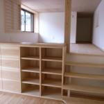 東京のオーダー家具ユウキが作った杉材を使用した収納ボード