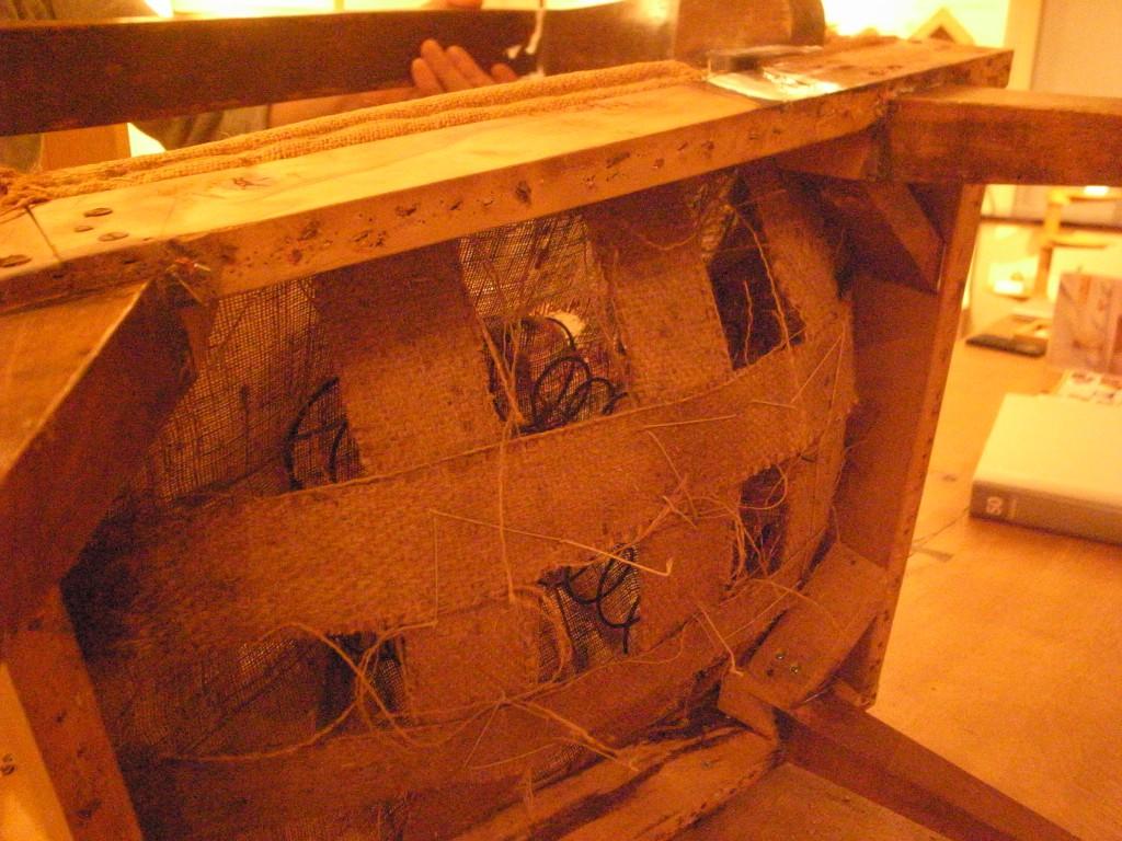 東京のオーダー家具屋の作る昭和初期の製法の椅子のリフォーム3