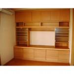 東京のオーダー家具ユウキが作ったルーバー扉でもリモコンが使いやすいオーディオ収納