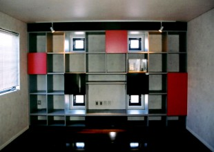 ホームシアター用の壁面収納