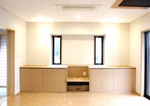 テレビボード カウンター一体型家具