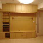 東京のオーダー家具ユウキが作った曲面(アール)収納家具・飾り棚