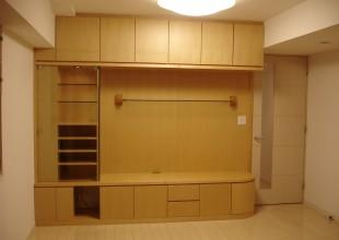 テレビボード 曲面(アール)収納家具・飾り棚