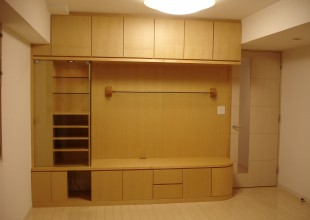 壁面収納 曲面(アール)収納家具・飾り棚