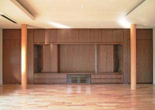 幅7mのリビングボード・仏壇収納