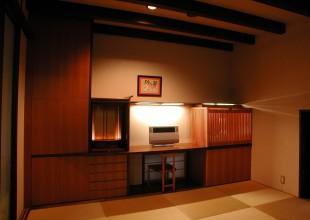 壁面収納 日本建築を凝縮させた和室収納家具