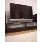 東京のオーダー家具ユウキが作ったアルミ脚のテレビボード