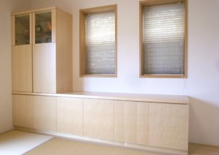 仏壇・仏壇収納家具 和室のローボード「収納・仏壇・飾り棚」
