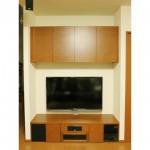 東京のオーダー家具ユウキが作ったスピーカーを埋め込んだテレビボード