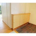 東京のオーダー家具ユウキが作った奥行のない下駄箱収納