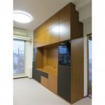 東京のオーダー家具ユウキが作った配線を隠したナラ材・オーディオ収納