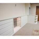 東京のオーダー家具ユウキが作った白塗りつぶしローボード