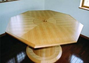 テーブル・デスク 鍋を囲めるコンロ付きテーブル