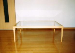 テーブル・デスク シンプルなガラスのローテーブル